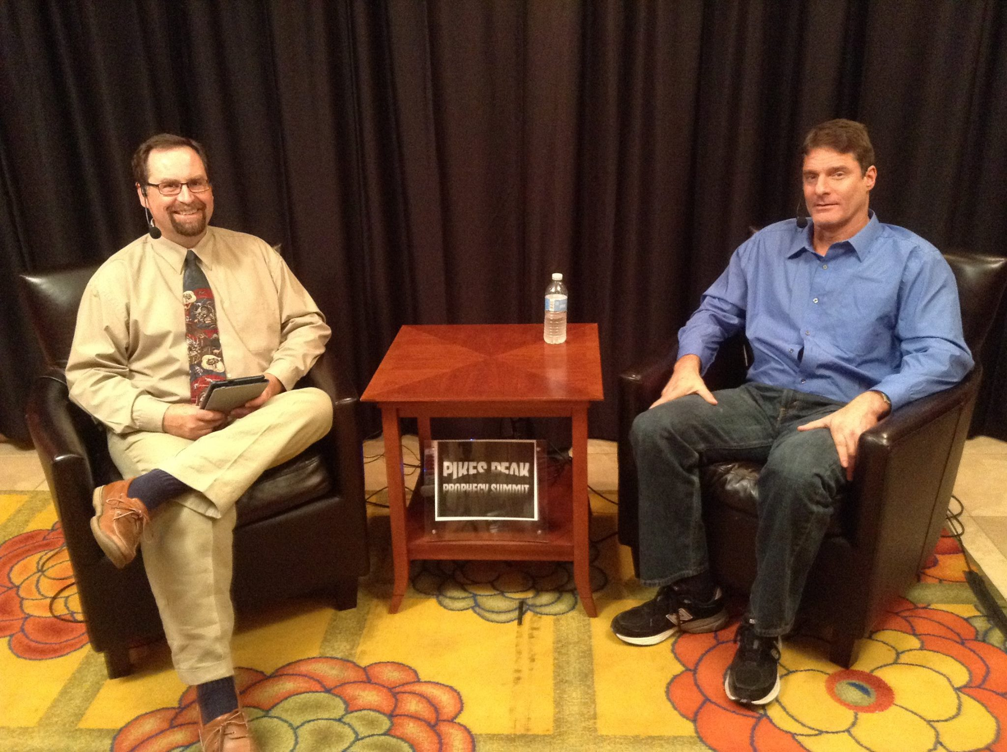 Derek Gilbert and Cris Putnam at the 2014 Pikes Peak Prophecy Summit