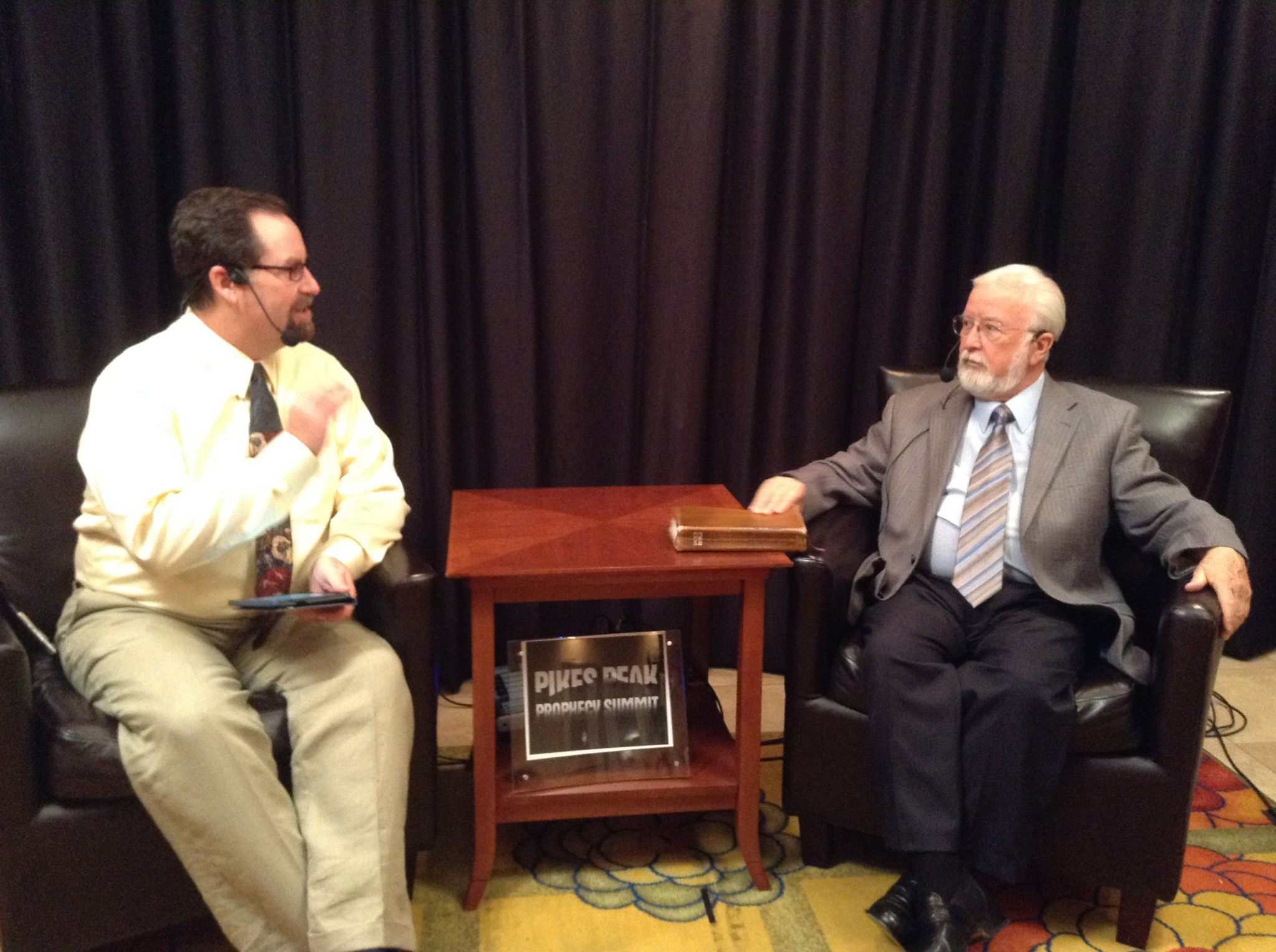 Derek Gilbert and Gary Stearman at the 2014 Pikes Peak Prophecy Summit